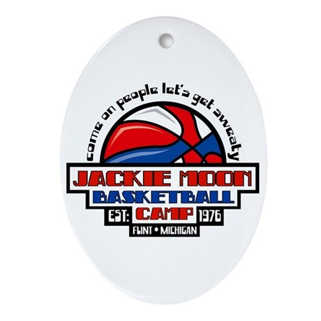 Jackie Moon Basketball Camp Ornament (Oval)