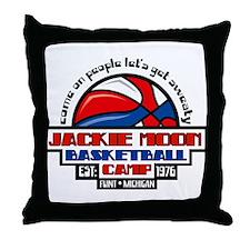 Jackie Moon Basketball Camp Throw Pillow