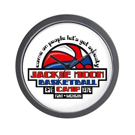 Jackie Moon Basketball Camp Wall Clock