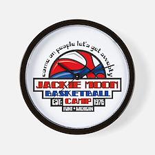 Jackie Moon Basketball Camp Wall Clock