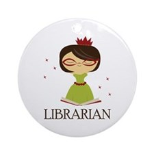 So Cute Librarian Ornament (Round)