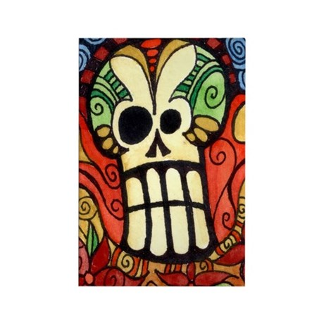 Day of the Dead Sugar Skull 1 Rectangle Magnet