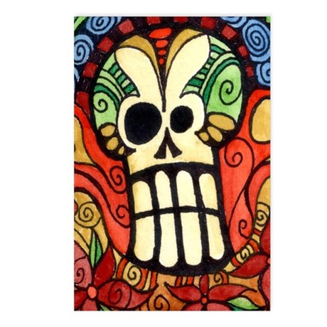 Day of the Dead Sugar Skull 1 Postcards (Package o