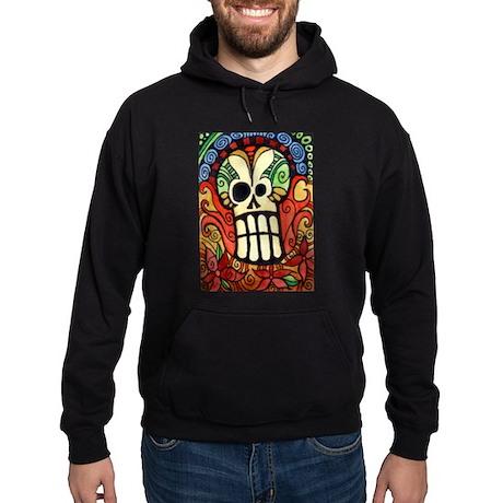 Day of the Dead Sugar Skull 1 Hoodie (dark)