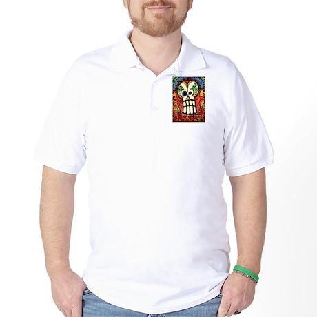 Day of the Dead Sugar Skull 1 Golf Shirt