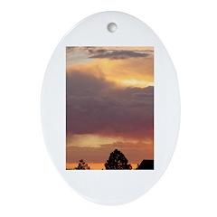 Vibrant Skies 2 Oval Ornament