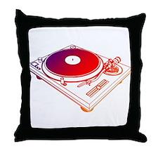 Vinyl Turntable 5 Throw Pillow