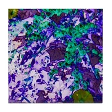 Blue Tapistry Tile Coaster