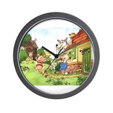 The Pigs and the Wolf Wall Clock