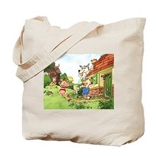 The Pigs and the Wolf Tote Bag