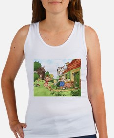 The Pigs and the Wolf Women's Tank Top