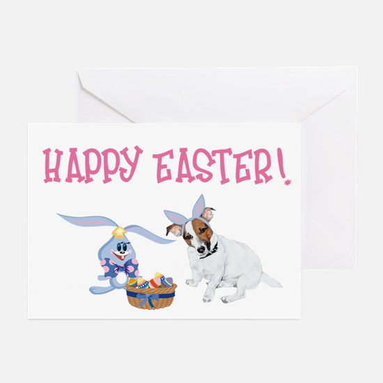Jack Russell and Easter Bunny Greeting Cards (Pk o