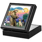St. Francis #2 / Two Labradors Keepsake Box