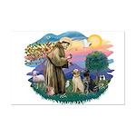 St. Francis #2 / Two Labradors Mini Poster Print