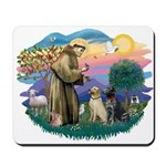 St. Francis #2 / Two Labradors Mousepad