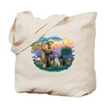 St. Francis #2 / Two Labradors Tote Bag