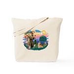 St Francis #2 / Welsh Corgi (P-7b) Tote Bag