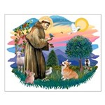 St Francis #2 / Welsh Corgi (P-7b) Small Poster