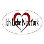 Ich Liebe New York Oval Sticker