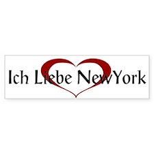 Ich Liebe New York Bumper Bumper Sticker