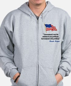 Tea party Revolt Zip Hoodie