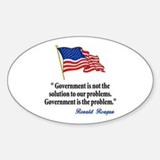 Tea party Revolt Oval Decal