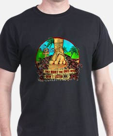 Smoke Monster from Foot Statue T-Shirt
