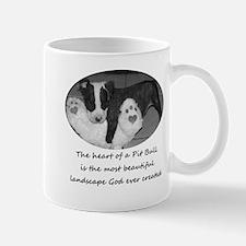 A true Pit Bull's heart Mug
