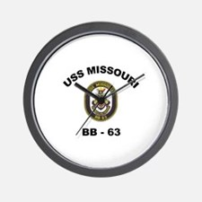 USS Missouri BB 63 Wall Clock