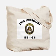 USS Missouri BB 63 Ships Image Tote Bag