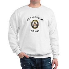 USS Missouri BB 63 Sweatshirt