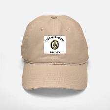 USS Missouri BB 63 Baseball Baseball Cap