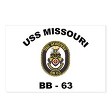 USS Missouri BB 63 Postcards (Package of 8)