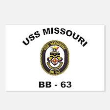 USS Missouri BB 63 Postcards (Package of 8)