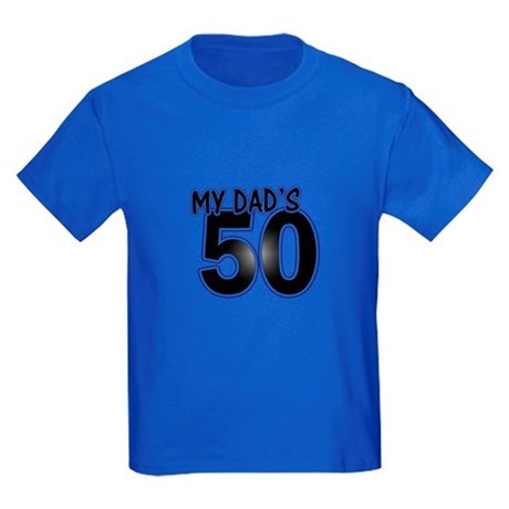 Dad's 50th Birthday Kids Dark T-Shirt