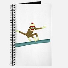 Sock Monkey Snowboarder Journal