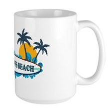 Cherry Grove SC - Surf Design Coffee Mug