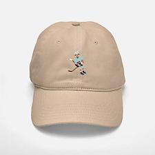 Sock Monkey Ice Hockey Player Baseball Baseball Cap