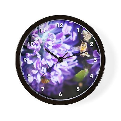 Hyacinth with a Bee Wall Clock