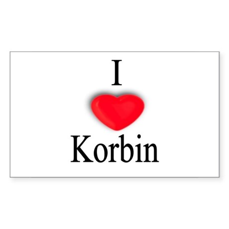 Korbin Rectangle Sticker