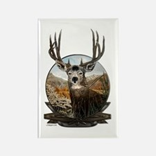 Mule deer Painting Rectangle Magnet