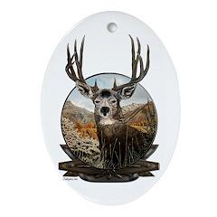 Mule deer Painting Ornament (Oval)