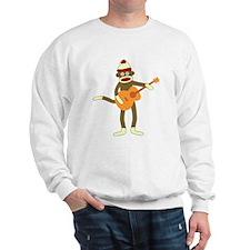 Sock Monkey Guitar Player Sweatshirt