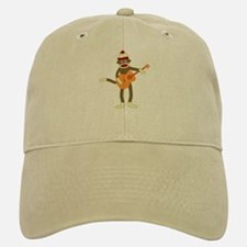 Sock Monkey Guitar Player Baseball Baseball Cap