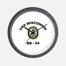 USS Wisconsin BB 64 Wall Clock