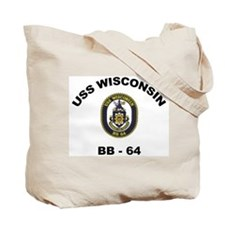 USS Wisconsin BB 64 Ships Image Tote Bag