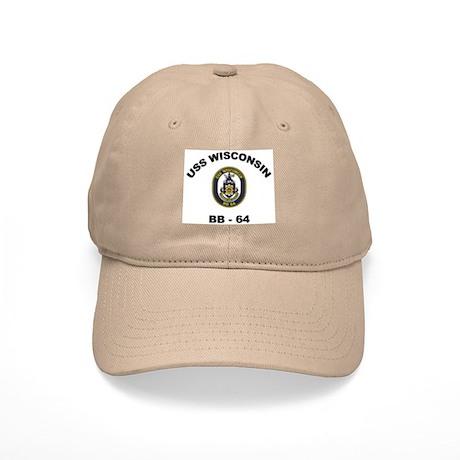 USS Wisconsin BB 64 Cap