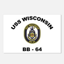 USS Wisconsin BB 64 Postcards (Package of 8)