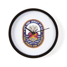 USS New Jersey BB 62 Wall Clock