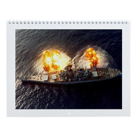 USS New Jersey BB 62 Ships Image Wall Calendar